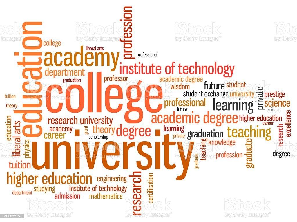 Higher education vector art illustration