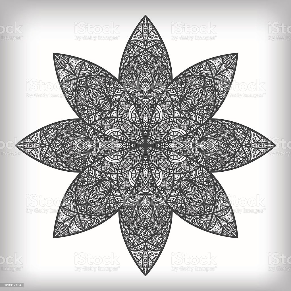 highly detailed abstract flower royalty-free stock vector art
