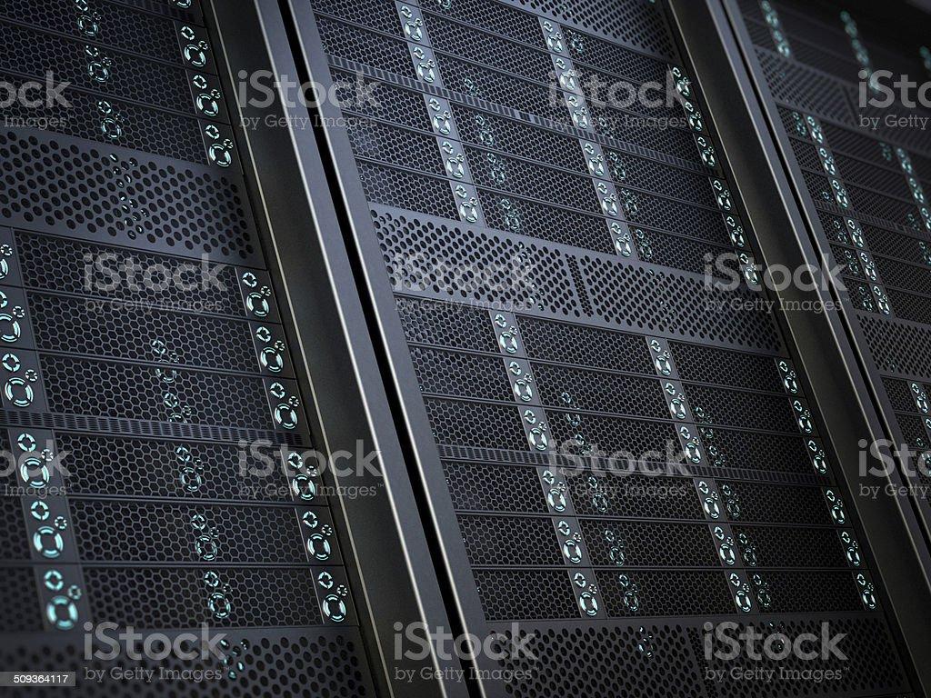 High-tech network server equipment detail vector art illustration