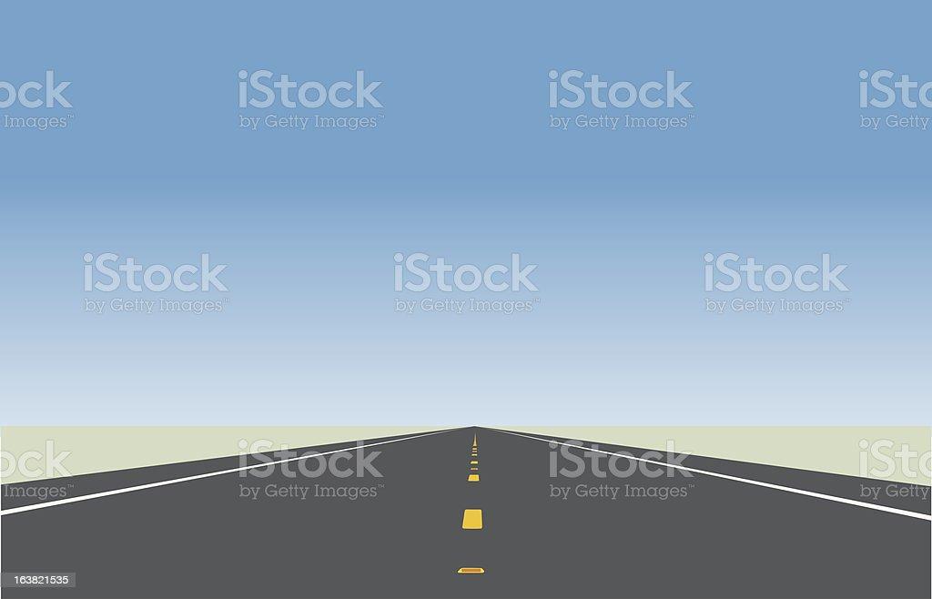 Highway illustration. vector art illustration