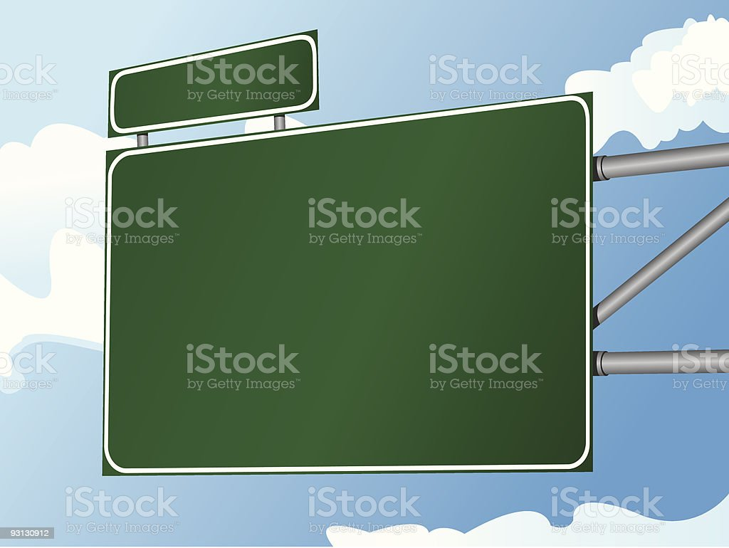 Highway Sign 10 royalty-free stock vector art