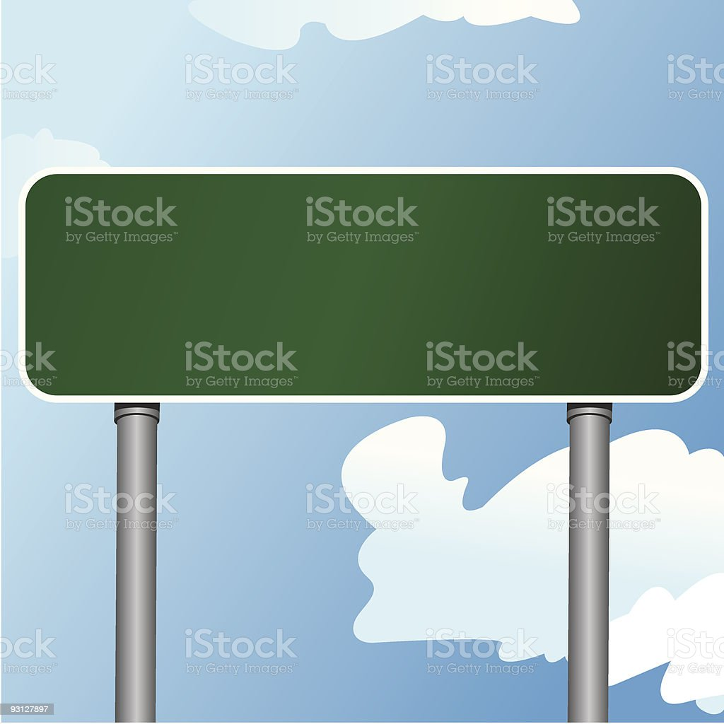 Highway Sign 6 vector art illustration