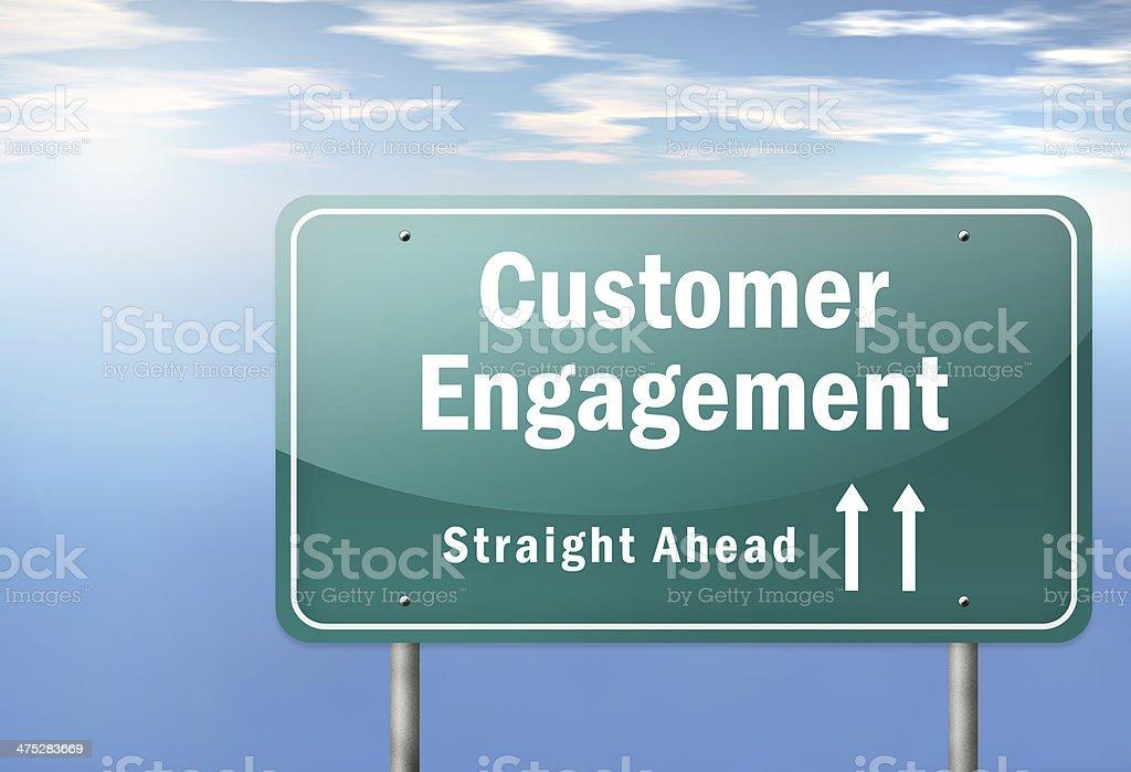 Highway Signpost 'Customer Engagement' royalty-free stock vector art