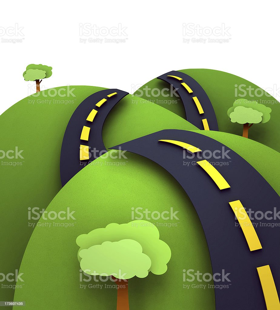 Highway to the Horizon royalty-free stock vector art