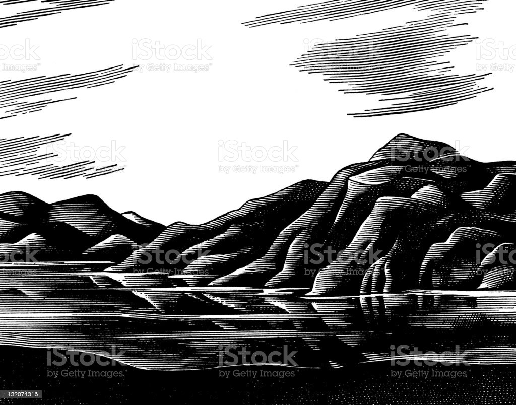 Hilly Landscape royalty-free stock vector art