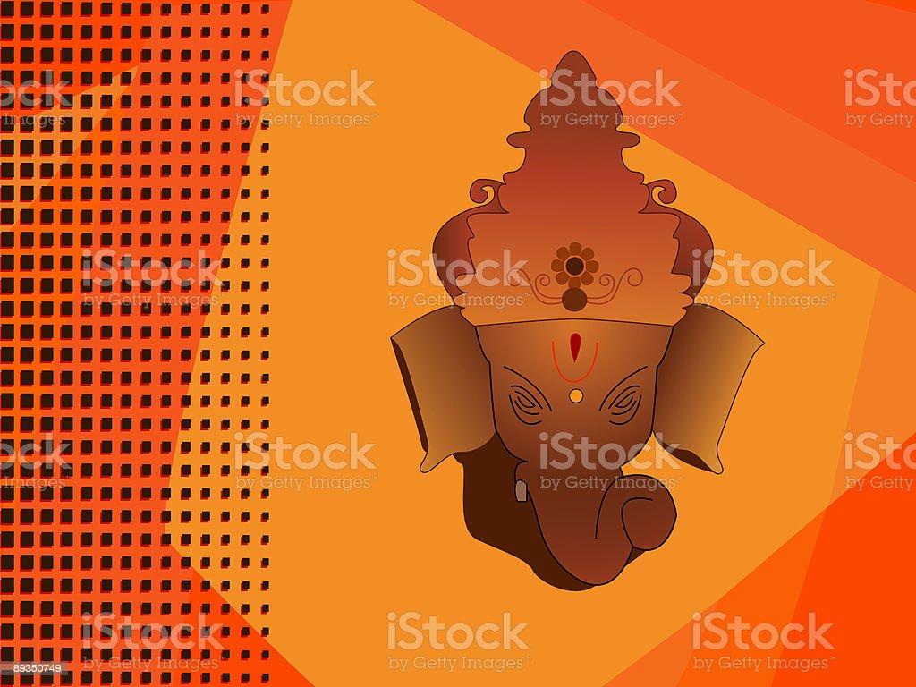 Hindu god ganesh royalty-free stock vector art