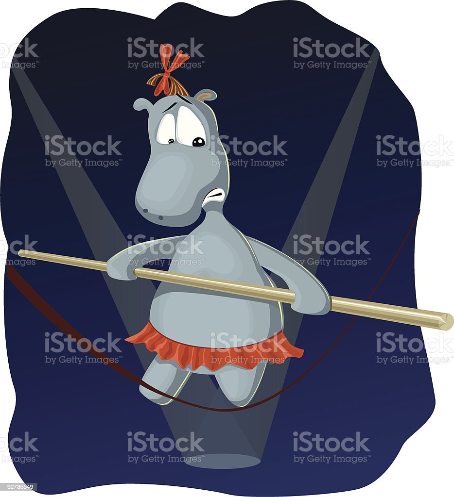 Hippopotamus royalty-free stock vector art