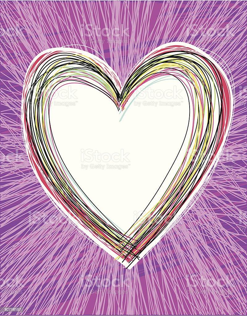 Hippy Heart royalty-free stock vector art