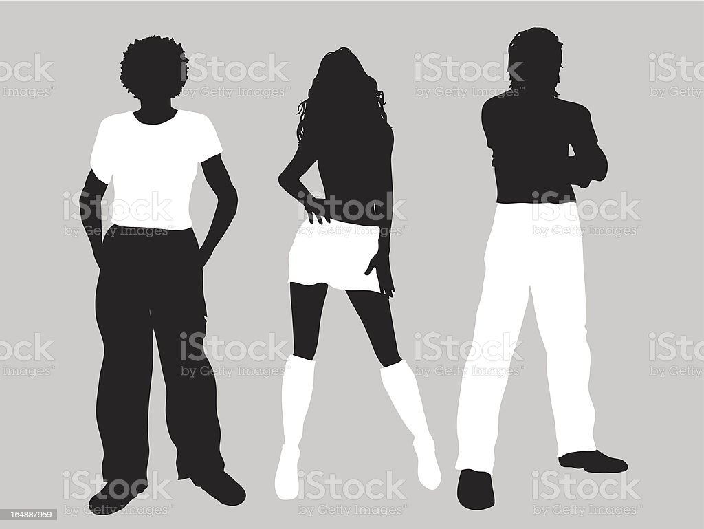 Hipster people royalty-free stock vector art
