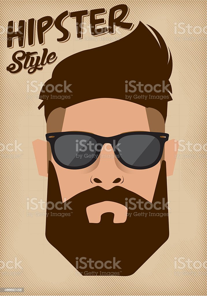 Hipster Style Poster stock photo
