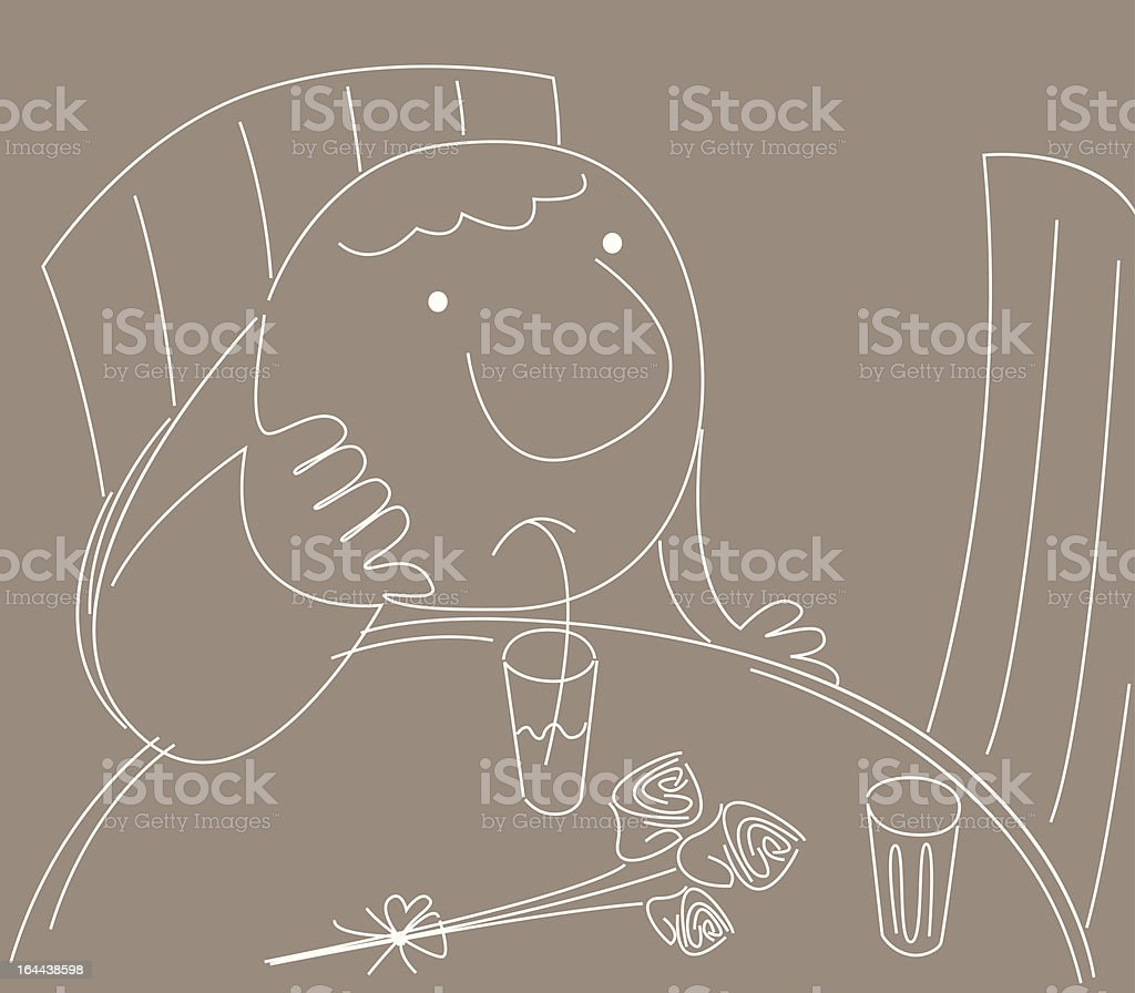 His Date Not Turning up vector art illustration
