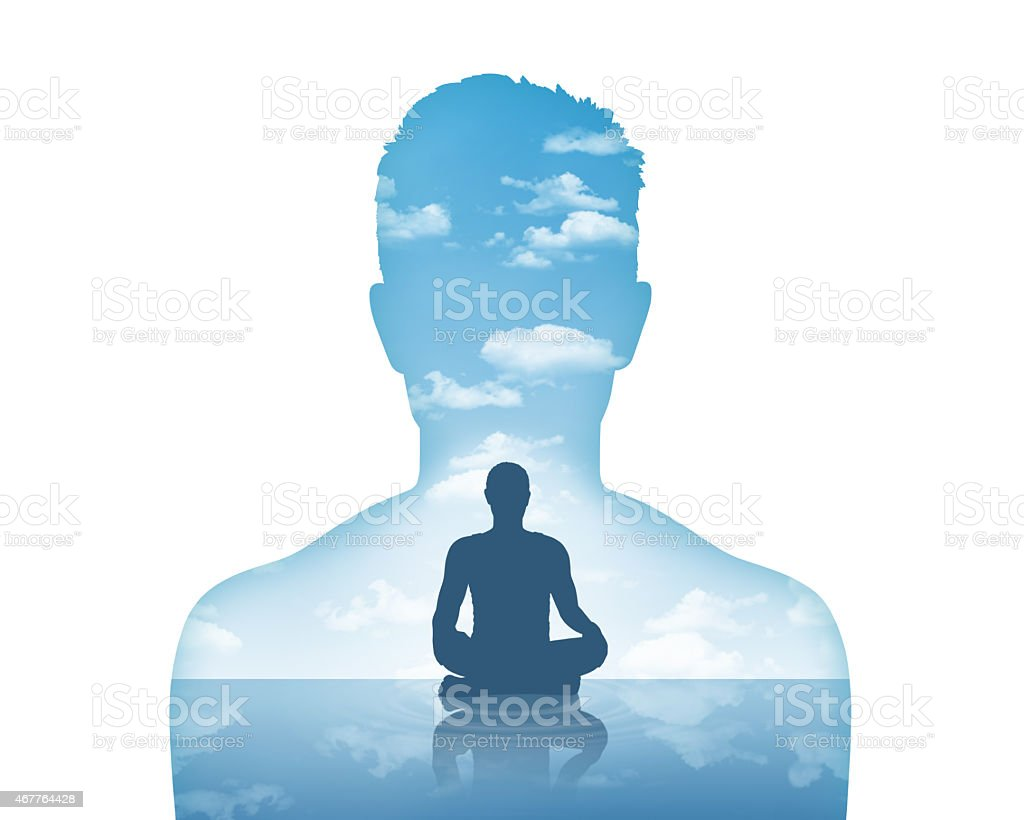 his inner peace vector art illustration