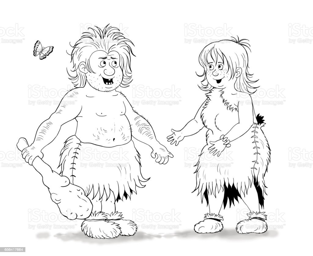 history of family history of fashion cave people coloring page