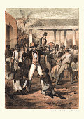 History of Slavery - Plantation Master at the Slave market