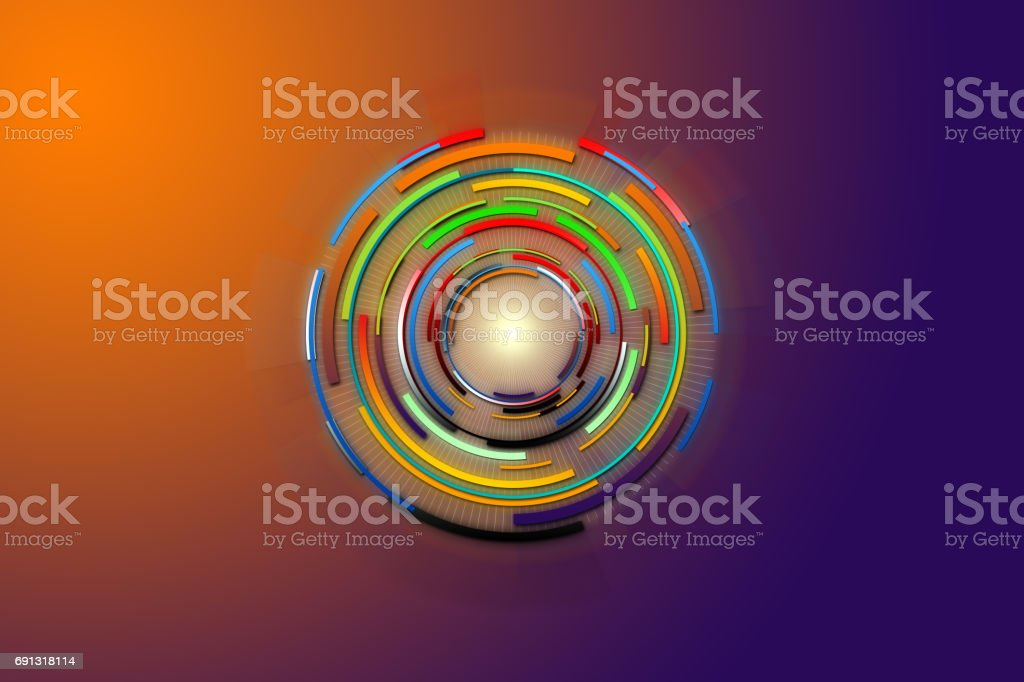 Hi-tech background design. Abstract future digital science technology concept. vector art illustration