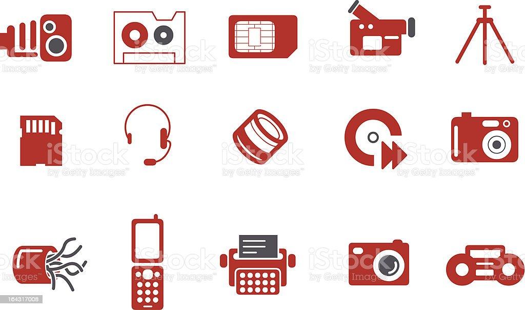 Hi-tech Icon Set royalty-free stock vector art