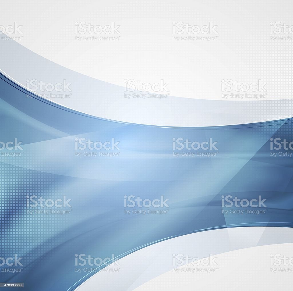 Hi-tech wavy design vector art illustration