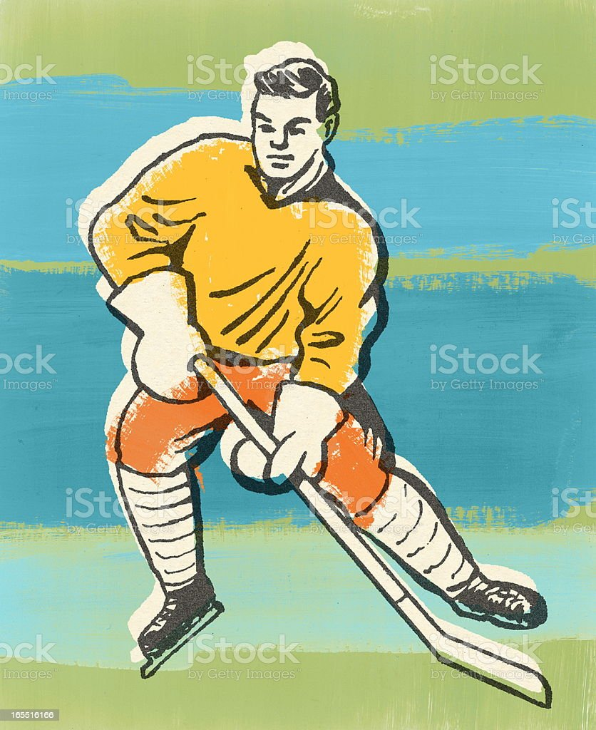 Hockey Player royalty-free stock vector art