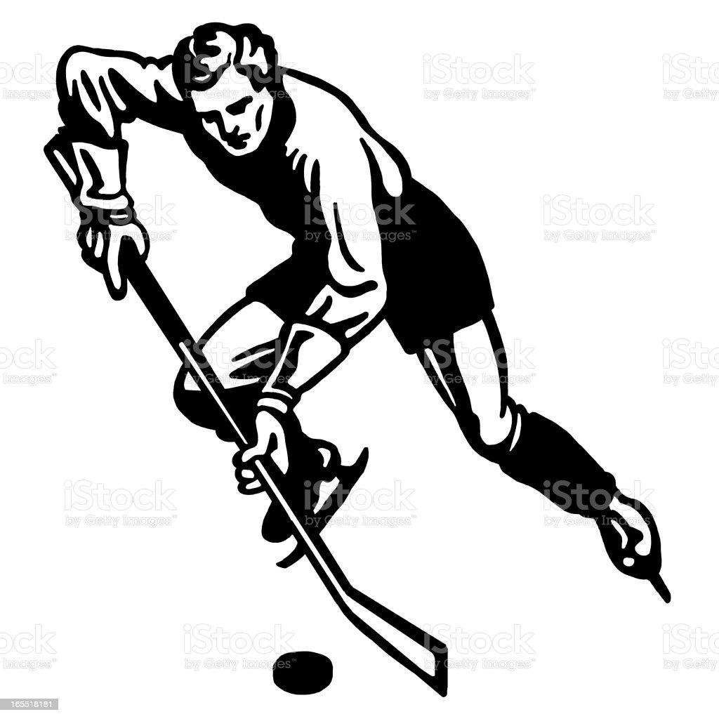 Hockey Player royalty-free stock vector art