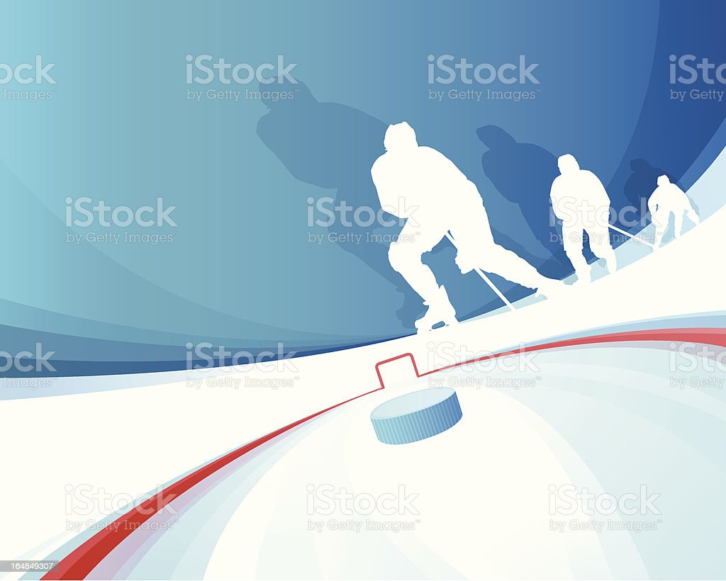 Hockey Players vector art illustration