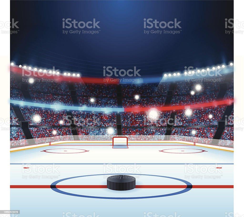 Hockey Rink vector art illustration