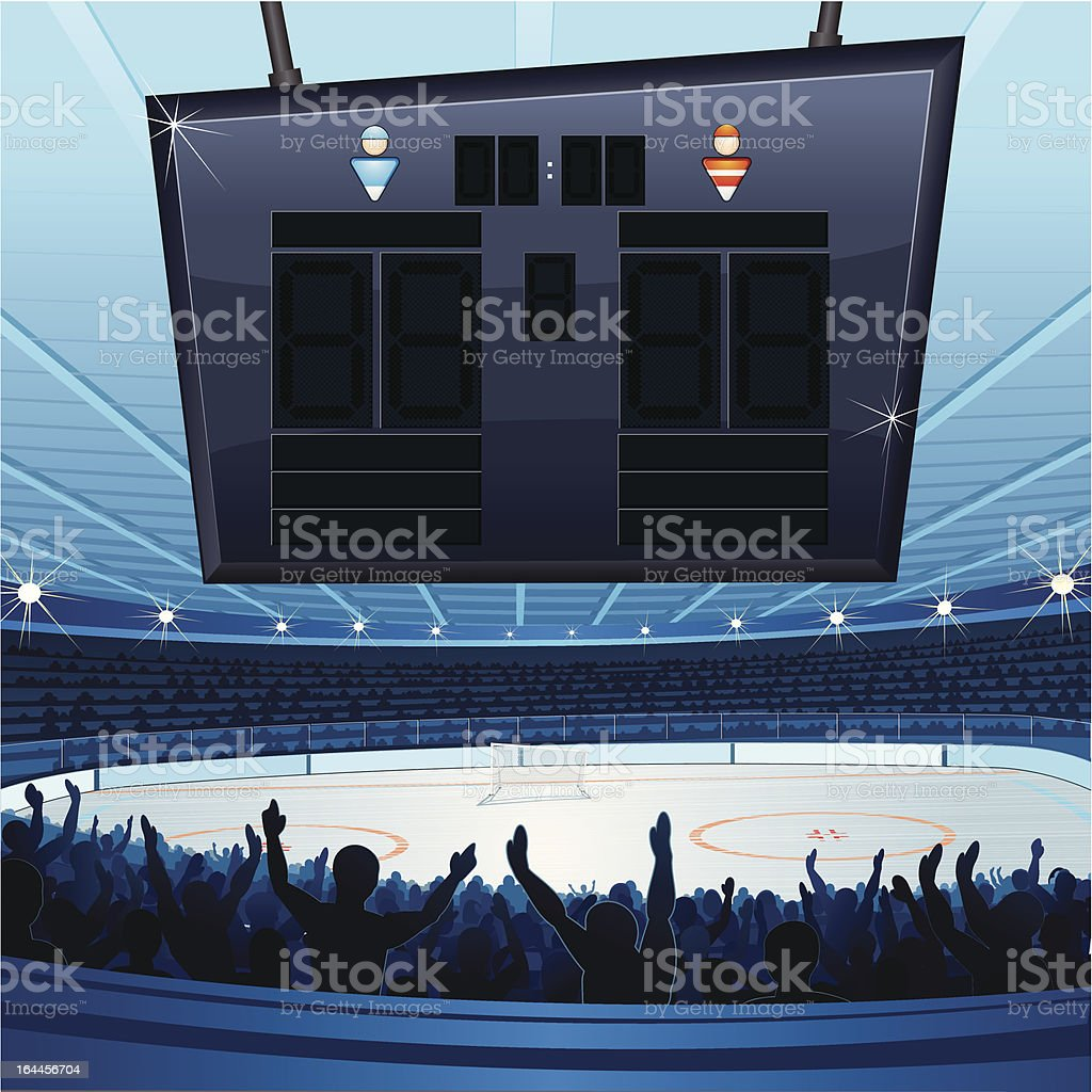 Hockey Stadium royalty-free stock vector art