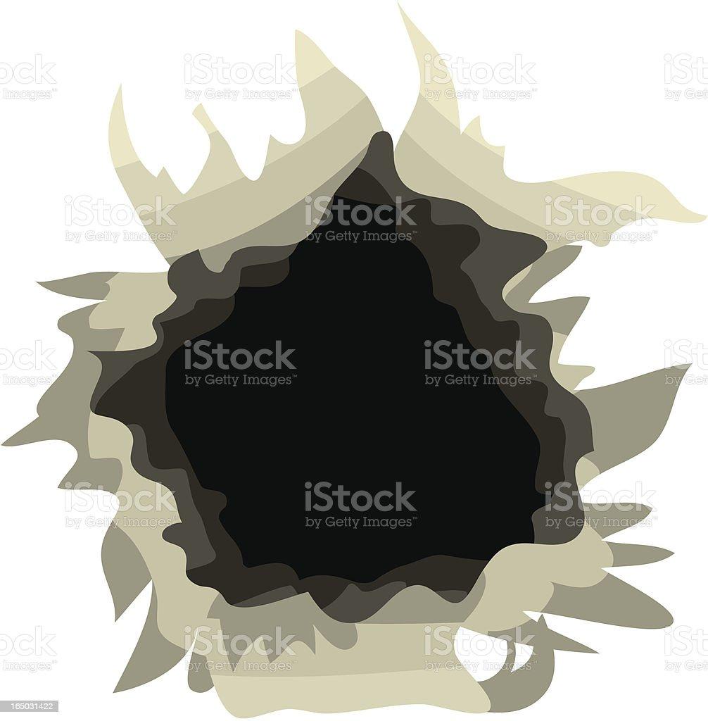 Hole royalty-free stock vector art