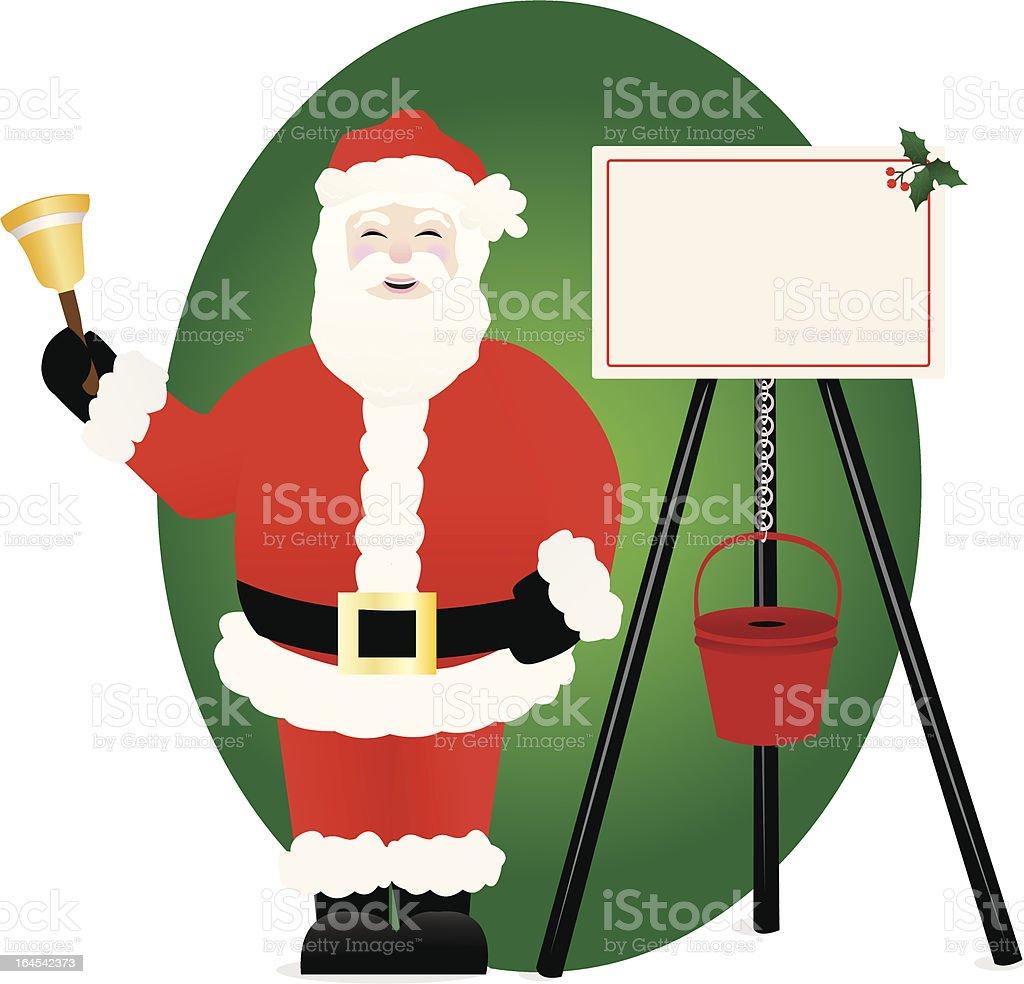 Holiday Bell Ringer vector art illustration