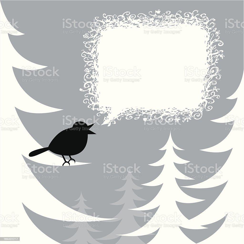 Holiday Bird Blue vector art illustration