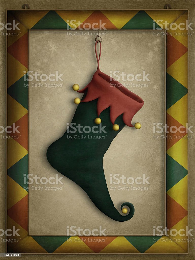Holiday boots royalty-free stock vector art