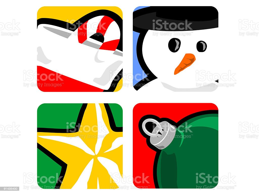 Holiday Icons / Design Elements royalty-free stock vector art