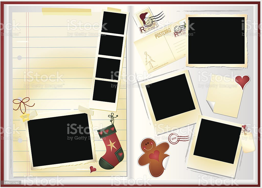 Holiday Memory Book vector art illustration