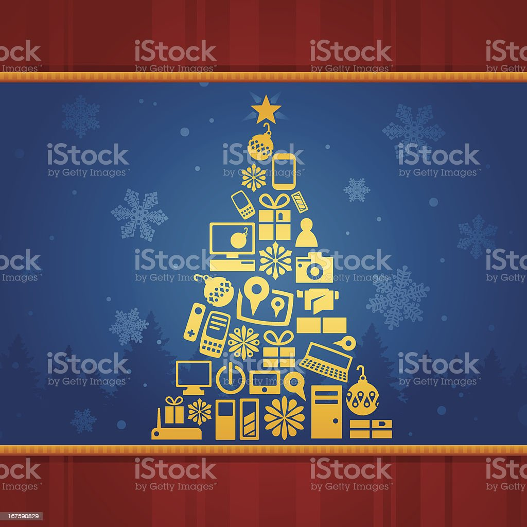 Holiday Present Tree royalty-free stock vector art