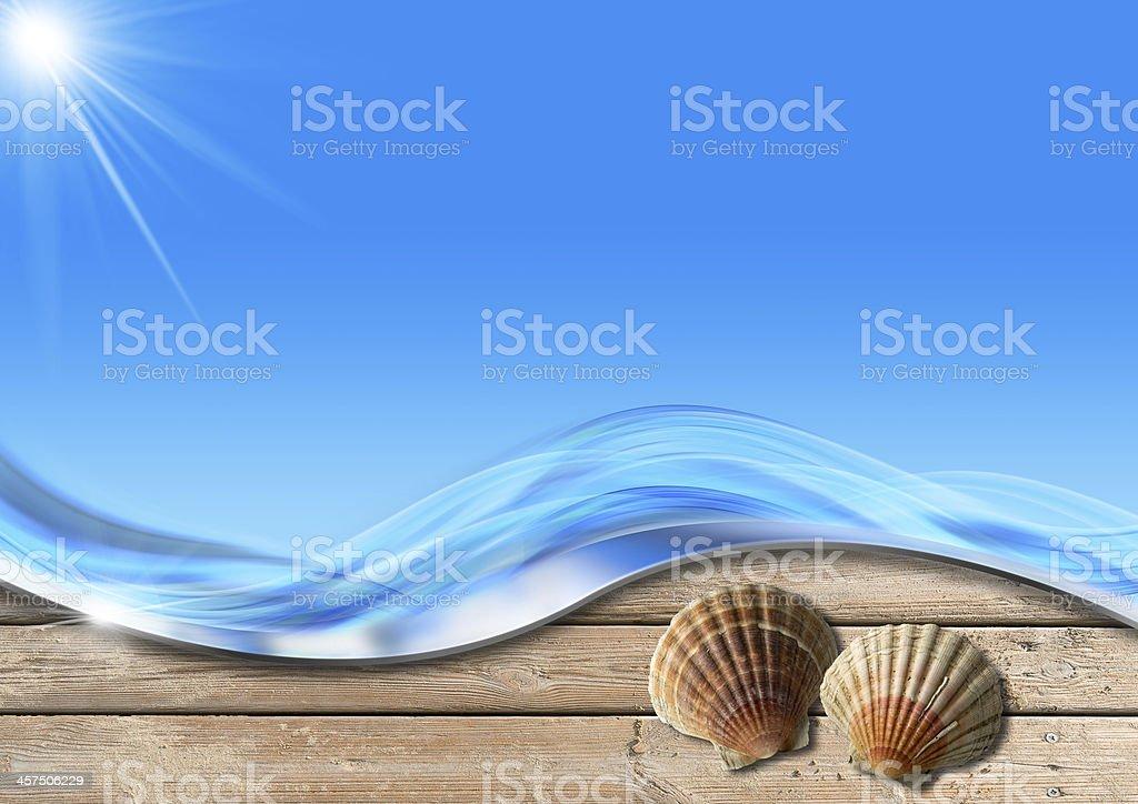 Holiday Sea Background vector art illustration