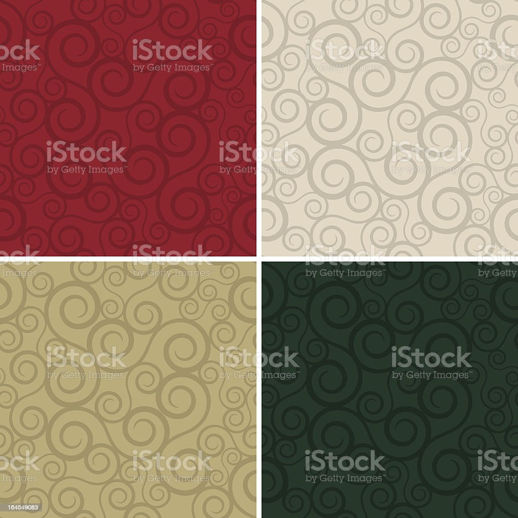Holiday Swirlz (Seamless) royalty-free stock vector art