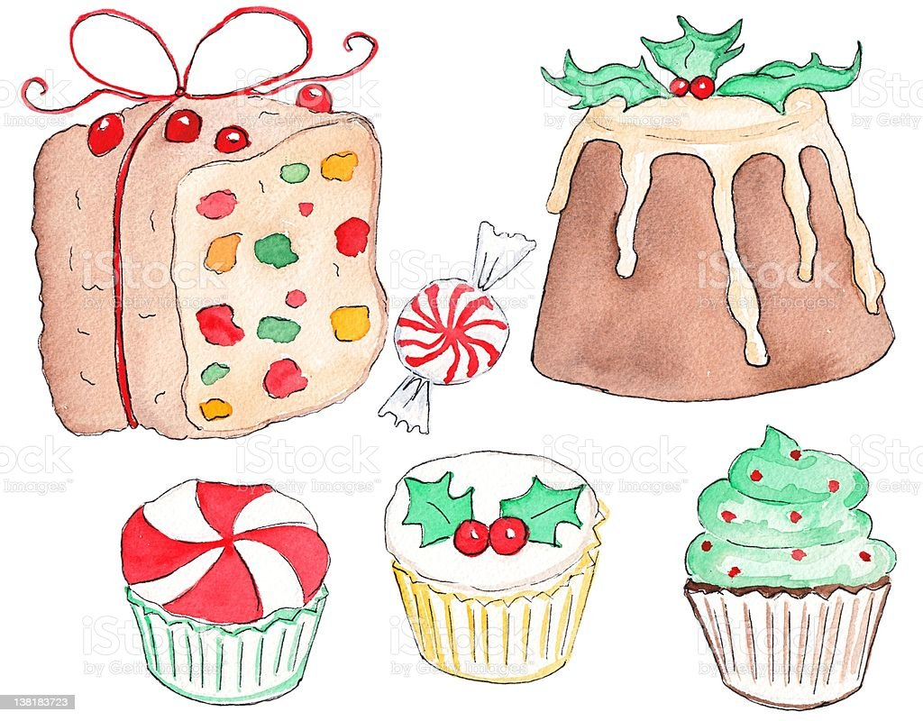 Holiday Treats vector art illustration