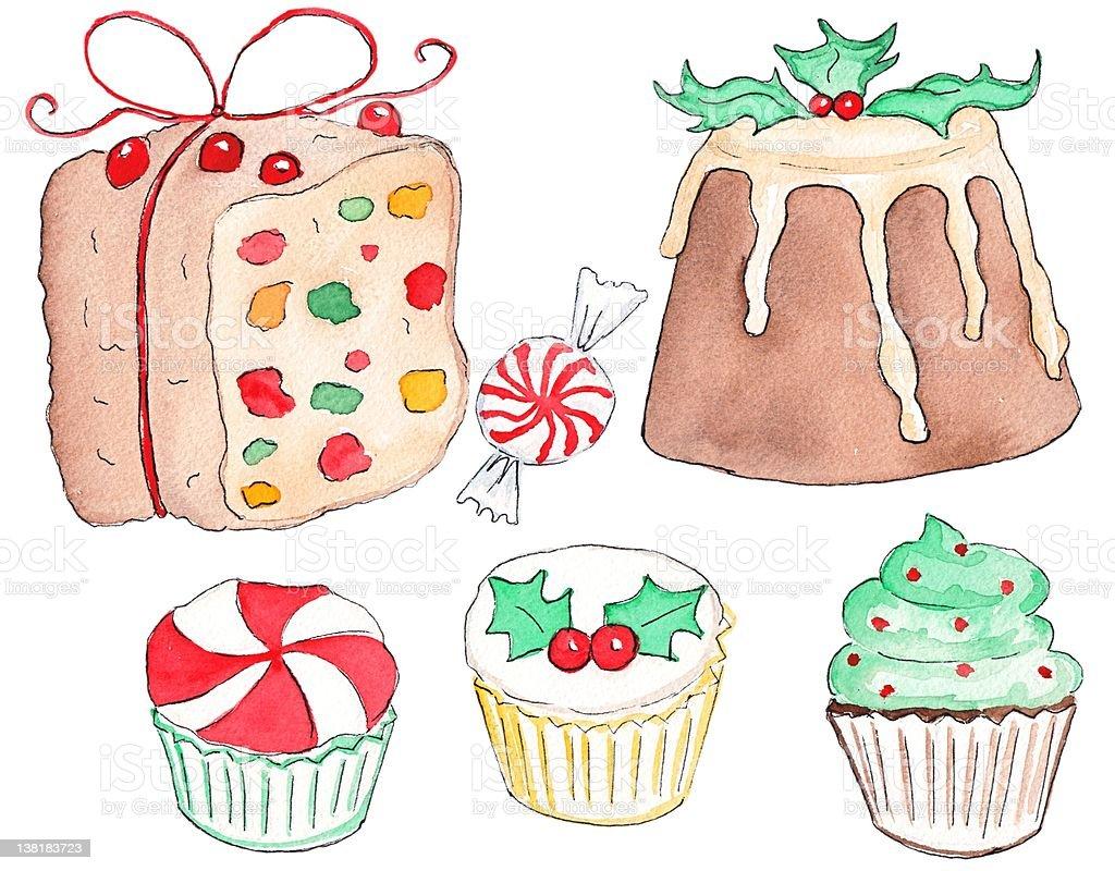 Holiday Treats vector art illustration