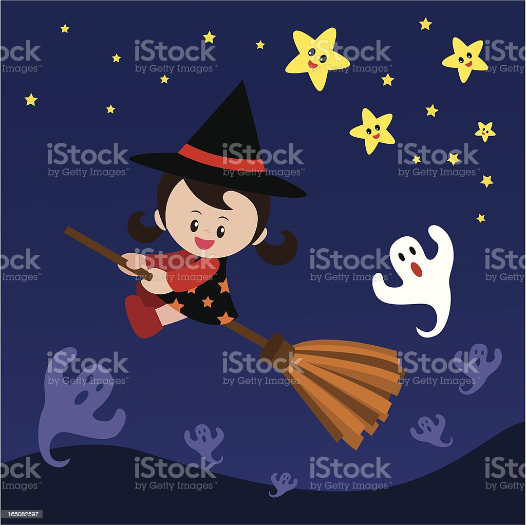 Hollween witch girl royalty-free stock vector art