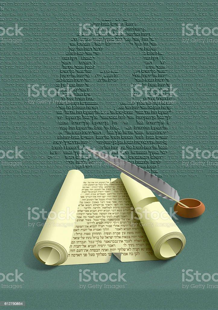 Holly Scripture vector art illustration