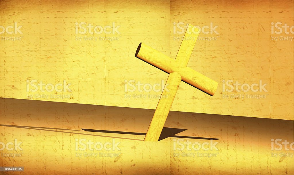 Holy Cross royalty-free stock vector art