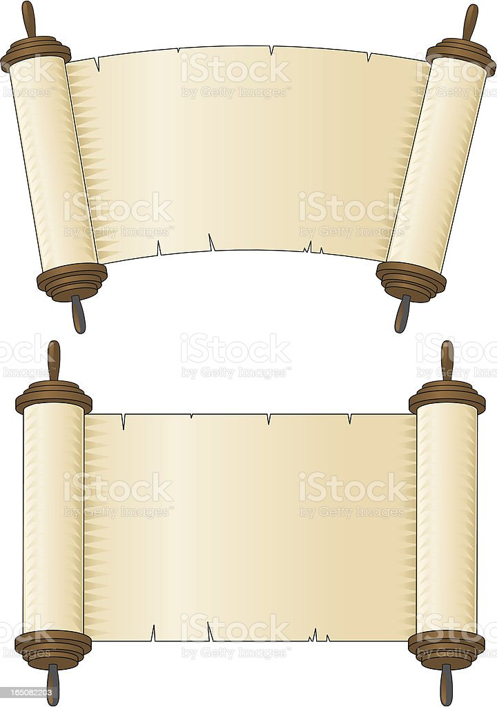holy scroll royalty-free stock vector art