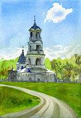 Holy Trinity Church, manor Troitse-lobanovo, Moskow region, Russia