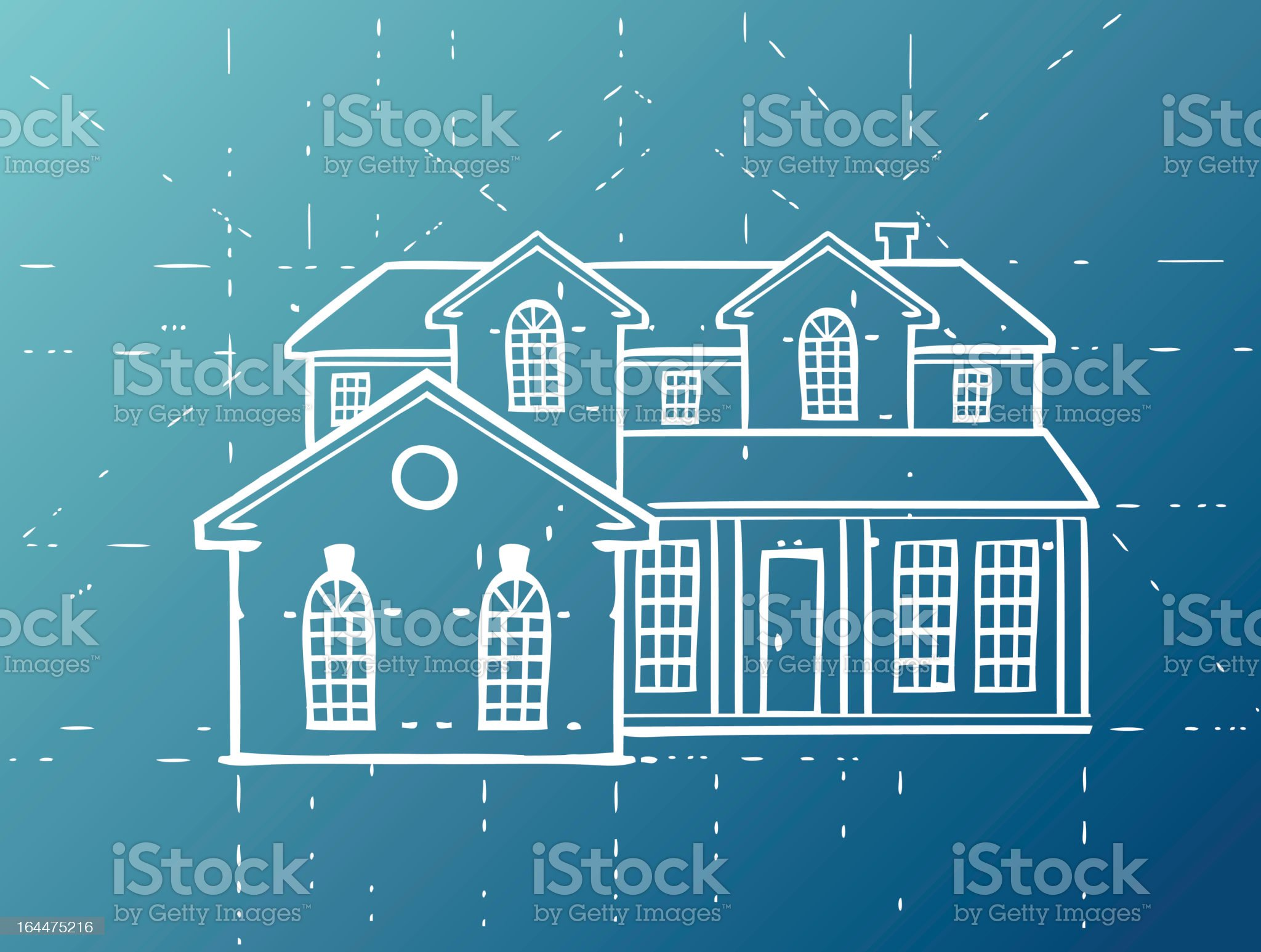 Home Blueprint royalty-free stock vector art