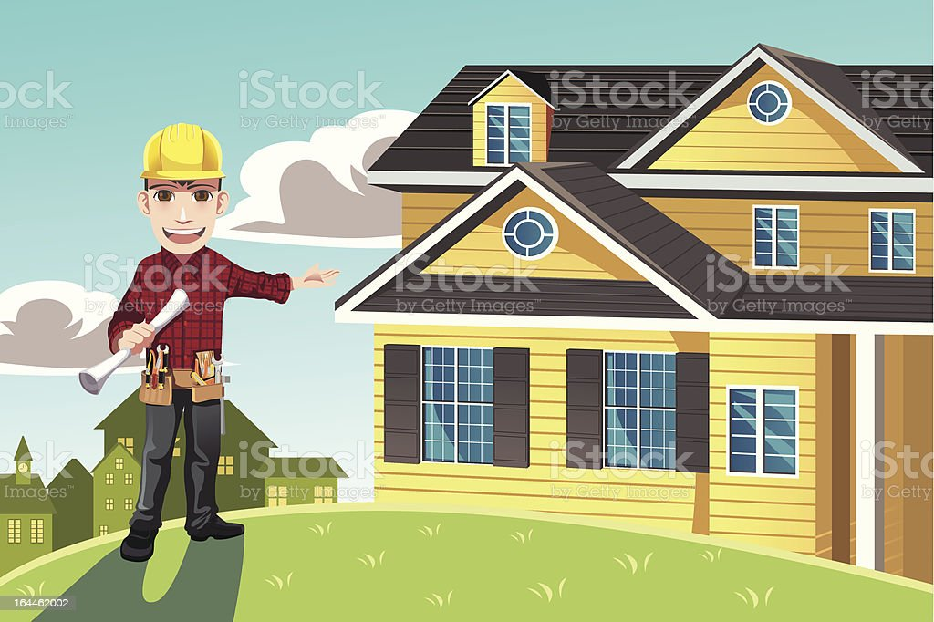 Home builder royalty-free stock vector art