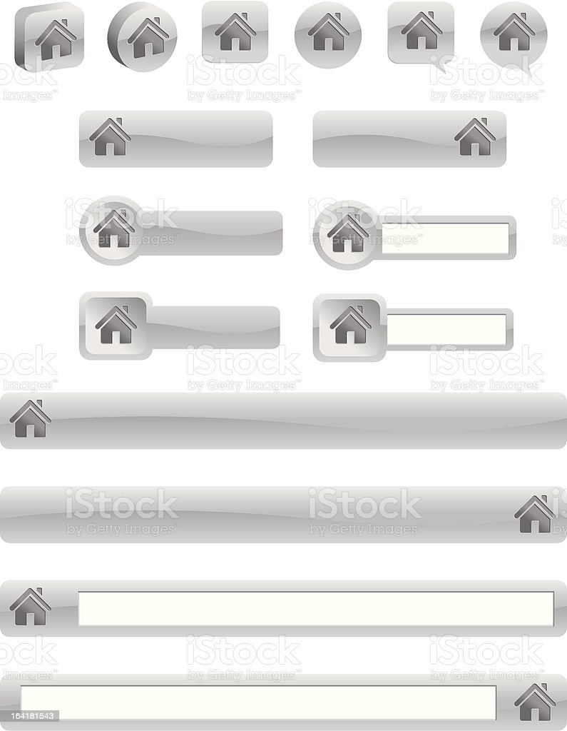 Home Buttons royalty-free stock vector art