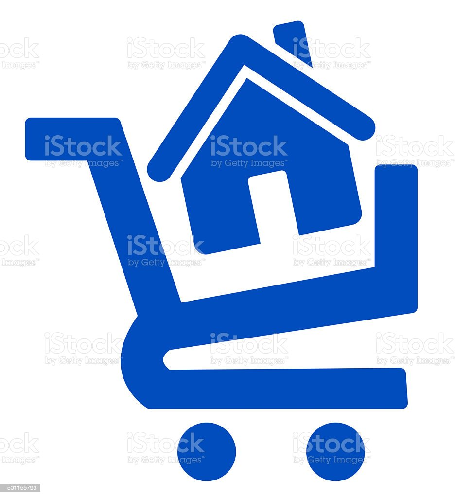 home buying icon vector art illustration