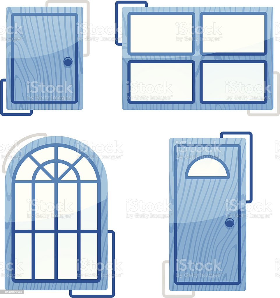 Home Elements royalty-free stock vector art