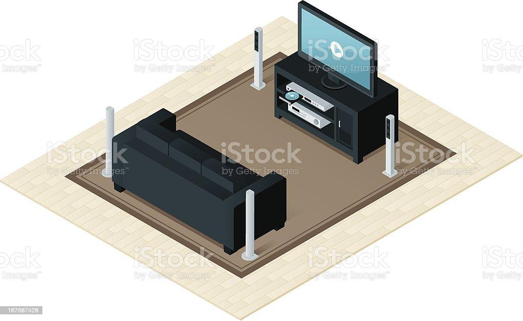 Home Entertainment vector art illustration