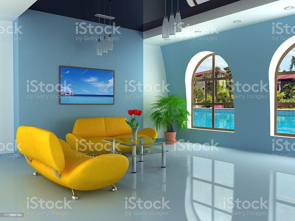 Home interior royalty-free stock vector art