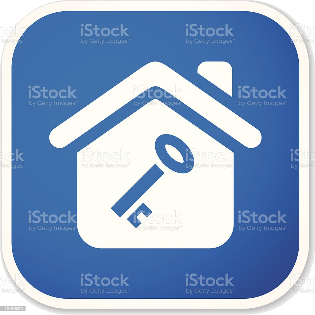 home key II sq sticker royalty-free stock vector art
